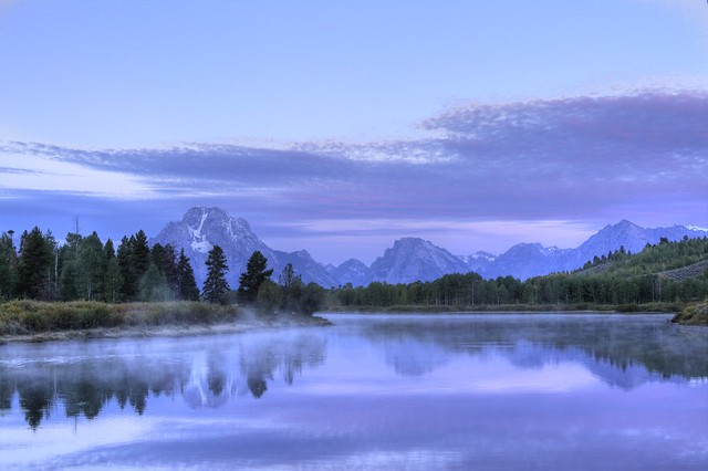 Misty Dawn at Oxbow Bend