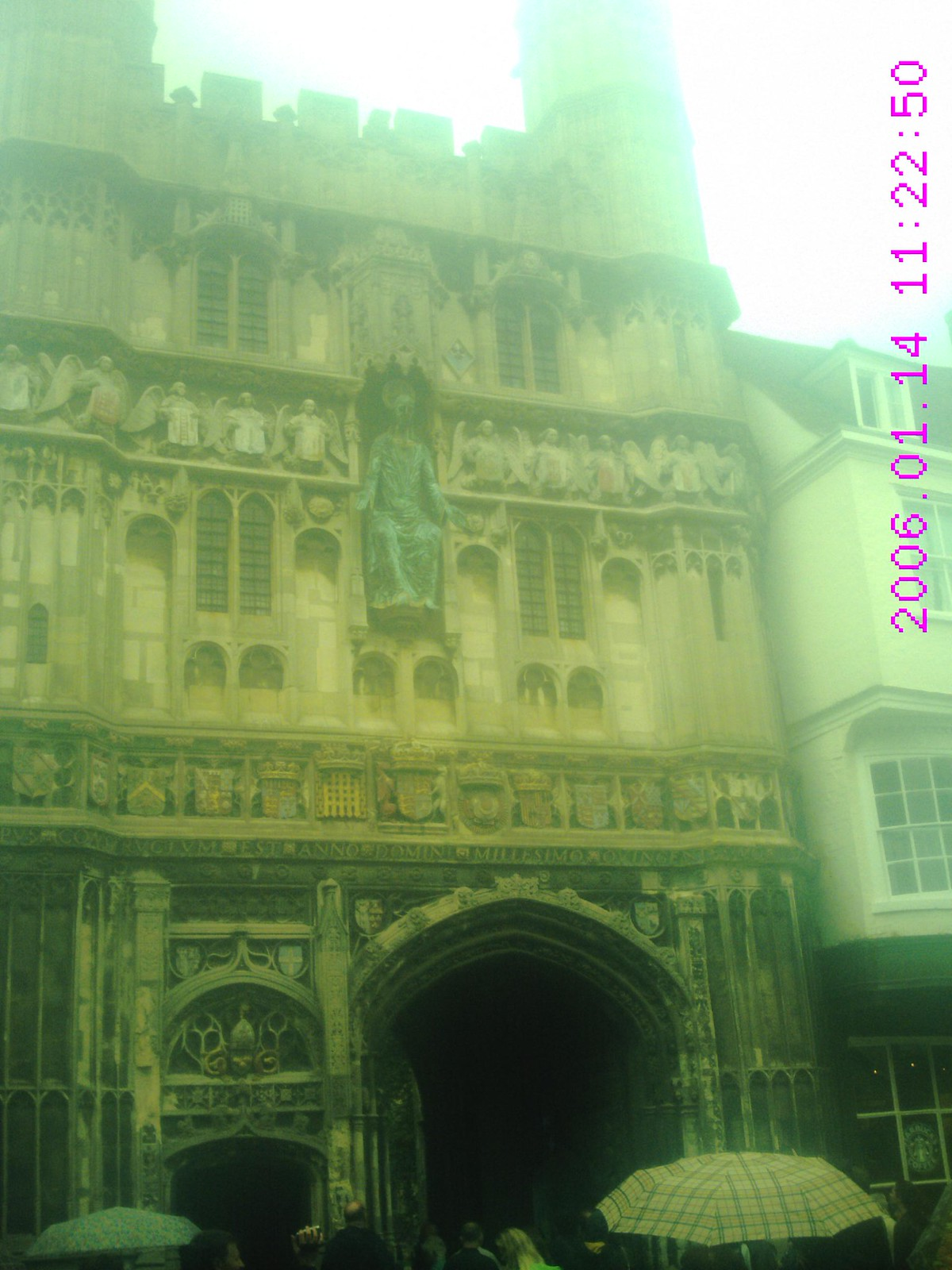 Book 1 Walk 28 Chilham to Canterbury Canterbury Cathedral on a VERY wet Saturday 2010 ignore date at side it's wrong!