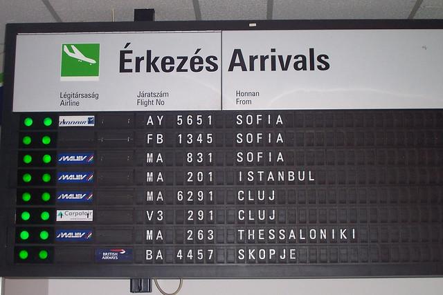 Arrivals at Budapest Ferihegy Airport