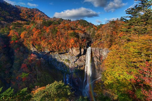 Kegon Falls in Autumn