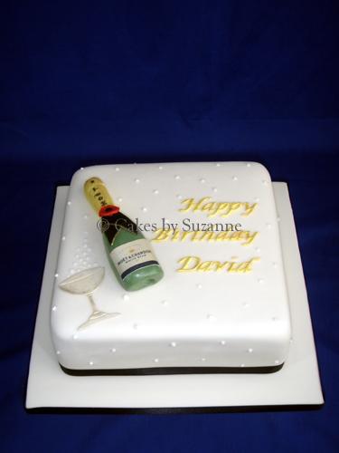 Brilliant Champagne Bottle Birthday Cake Suzanne Mawhinney Flickr Funny Birthday Cards Online Hetedamsfinfo