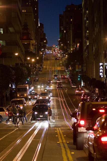 California Street at Blue Hour