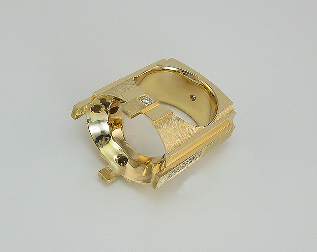 Ruby and Diamond Clunker Ring 50 grams/ WIP / 5