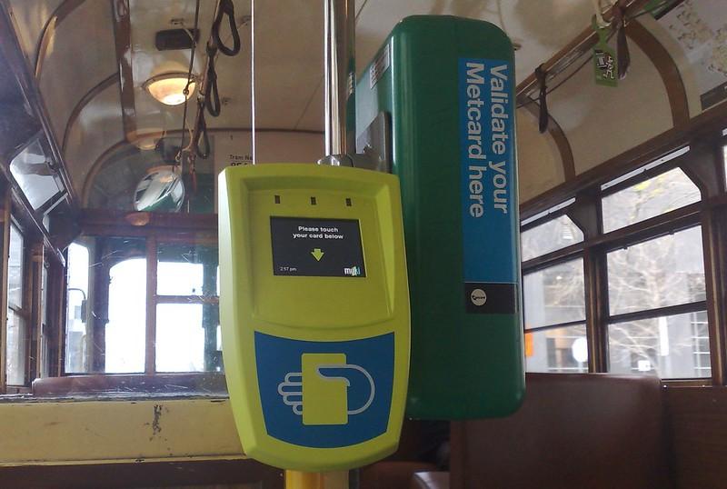 Myki and Metcard readers, W-class tram