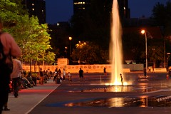 Fountains by Place des Arts