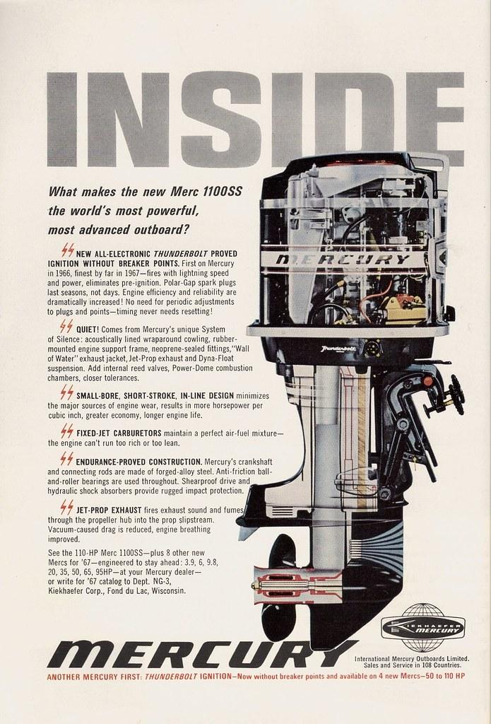 Inside Mercury | Outboard motor ad, 1967 | Glen H | Flickr