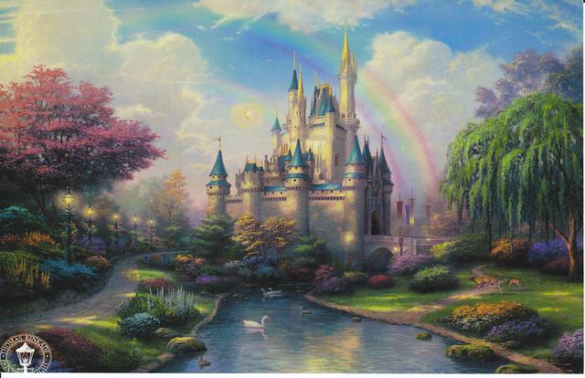 Thomas Kinkade Cinderella's Castle Postcard