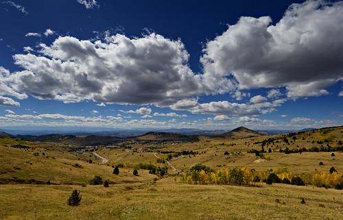 autumn sky mountains fall nature clouds skyscape landscape rockies gold golden nikon colorado view rocky historic mining valley co vista aspen overlook cloudscape teller 2010 cripplecreek clff d700