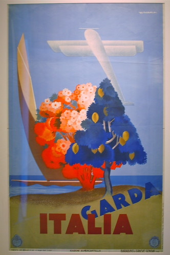 """GARDA ITALIA"", at the Away We Go! Travel poster exhibit at Boston Public Library 