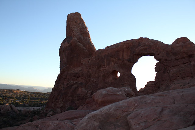 Turret Arch at Sunset - Arches National Park, Utah