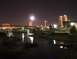 tulsa central park at night | by zeropsa