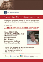 2010. november 21. 23:09 - San Marco Szabadegyetem: Prof. Dr. Hegyi Gabriella PhD