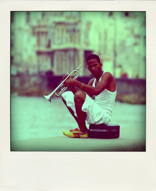 Musician at Malecón in Havana, Cuba