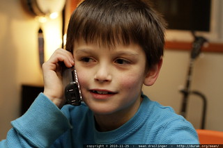 nick on the phone with grandma, grandpa & aunt megan - MG 3254.JPG | by sean dreilinger