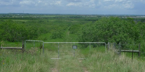 Austin F1 - End of access road looking WNW