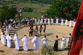 Women's dance at kosovian wedding