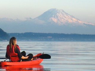 Sunset Paddle on Puget Sound | by Ingrid Taylar