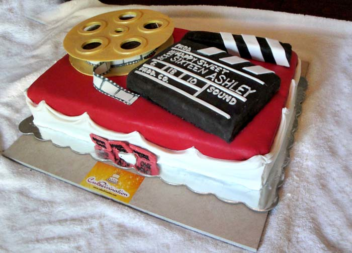 Movie Theme Sweet Sixteen Cake