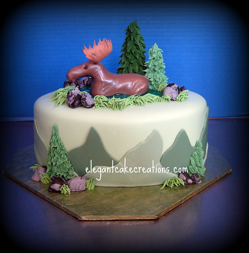 The Moose Cake! | by Elegant Cake Creations AZ