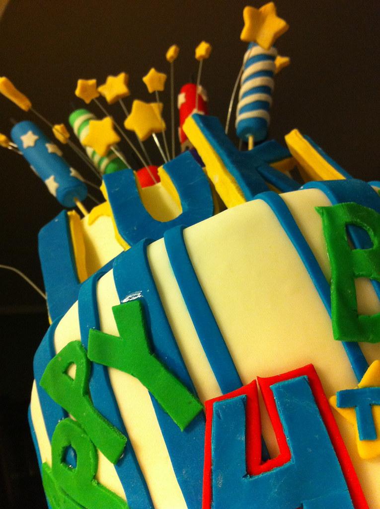 Wondrous Fireworks Birthday Sugarmama Cakes Flickr Funny Birthday Cards Online Bapapcheapnameinfo