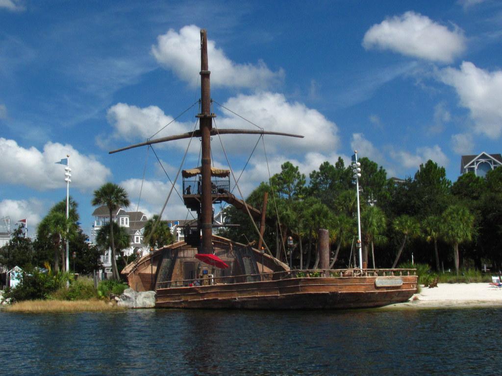 Pirate ship at Disney's Yacht & Beach Club Resort