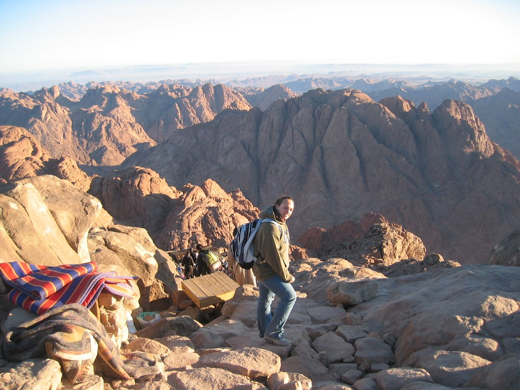 Mt  Sinai: on the way down  | Mount Sinai is a famous landma
