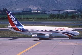 LAN Chile Boeing 737-236; CC-CHS@SCL, October 1998/ BTW