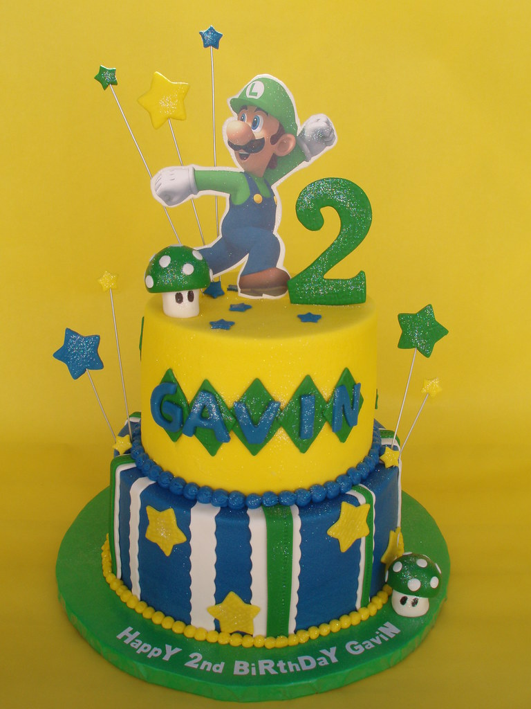 Groovy Luigi Themed Birthday Cake One Of Two Cakes For Brothers A Flickr Funny Birthday Cards Online Unhofree Goldxyz