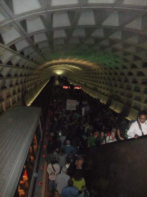Lots of people in metro station