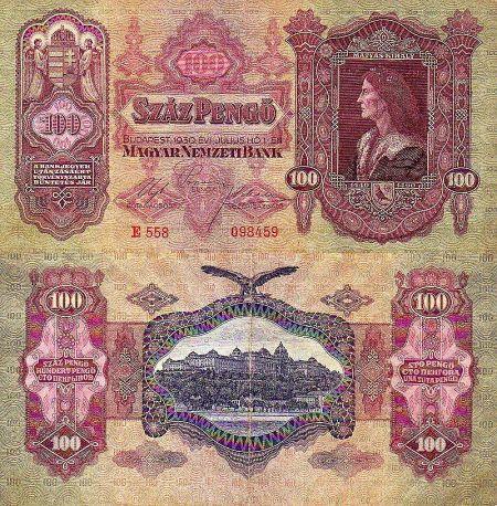 100 Pengő Maďarsko 1930, P98
