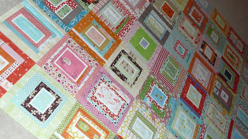 Munki in the middle quilt layout