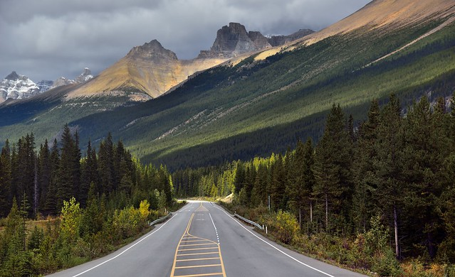 Alberta Highway 93 and a Drive in the Icefields Parkway (Banff National Park)