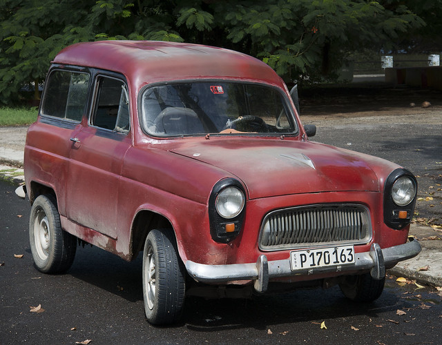 1955 Red Ford Squire Estate Car. Varadero, Cuba