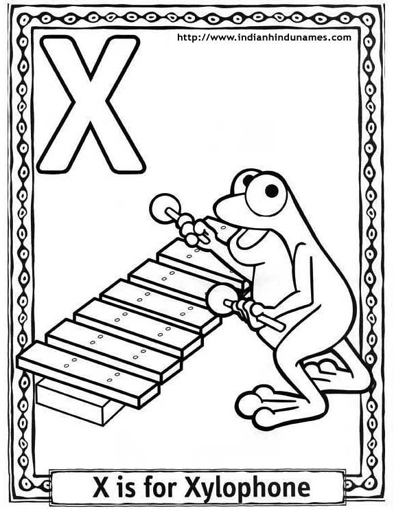 Musical Instruments Coloring Pages Printable Xylophone - Get ... | 741x574