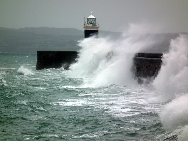 Drama At Lighthouse Holyhead Anglesey