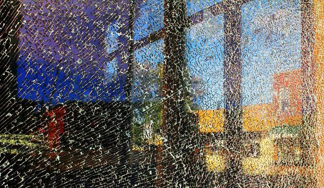 Reflection in a Broken Window