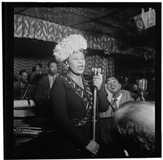 [Portrait of Ella Fitzgerald, Dizzy Gillespie, Ray Brown, Milt (Milton) Jackson, and Timmie Rosenkrantz, Downbeat, New York, N.Y., ca. Sept. 1947] (LOC) | by The Library of Congress