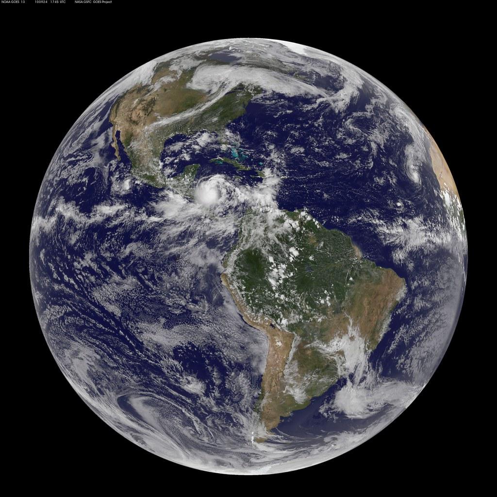NASA GOES-13 Full Disk view of Earth September 24, 2010 | Flickr