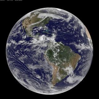 NASA GOES-13 Full Disk view of Earth September 24, 2010   by NASA Goddard Photo and Video