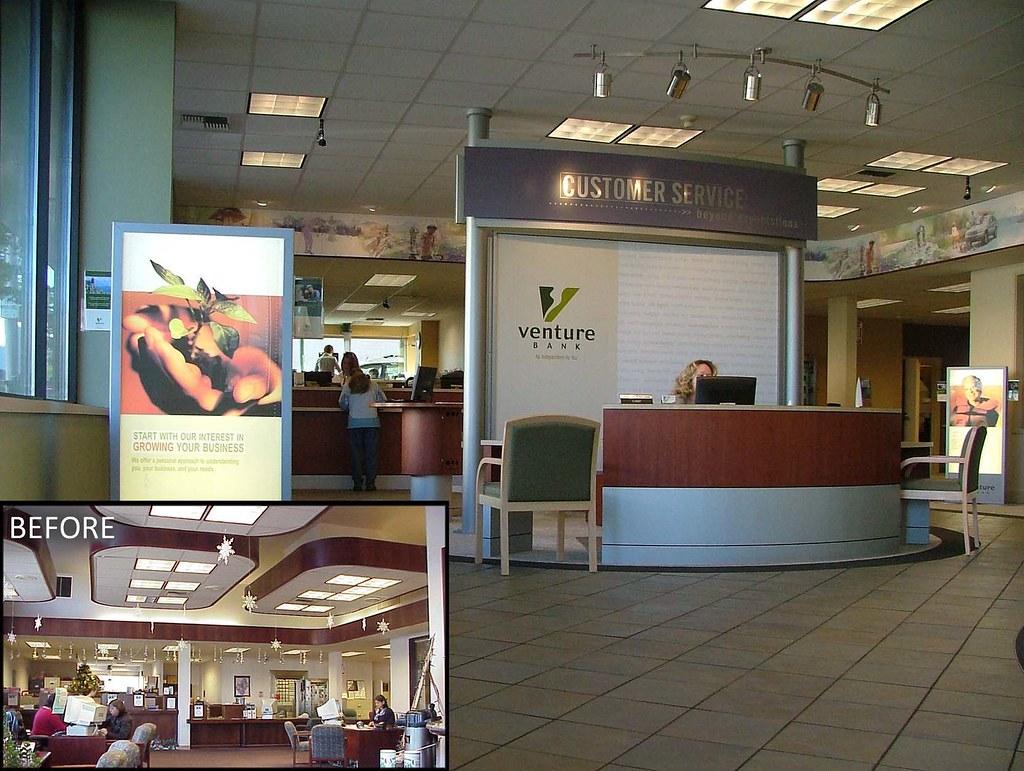 AFTER Interior Bank Upgrade   Customer Service Kiosk   Ban ...