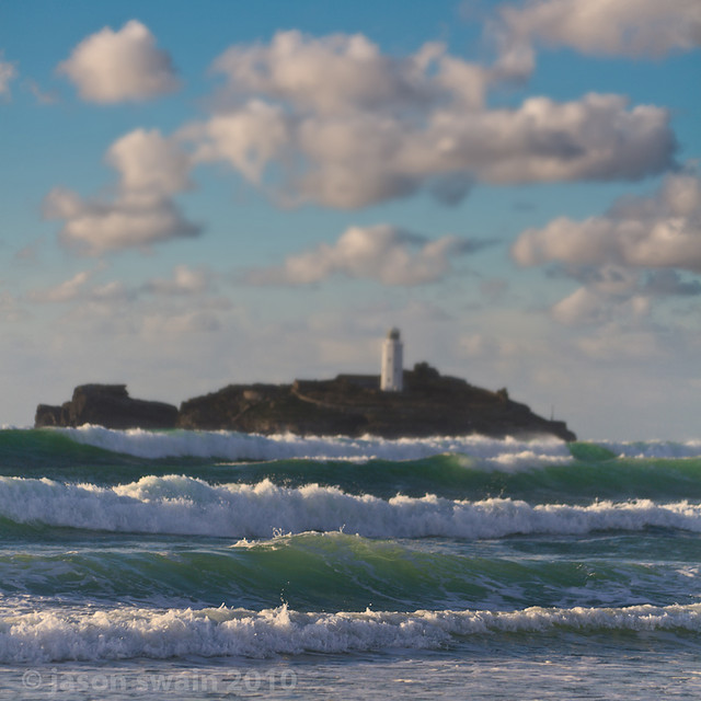 Godrevy Lighthouse Dreaming, a 70mm vertorama.