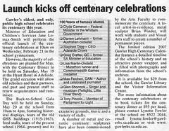 Gawler High centenary celebration - 2007  0207