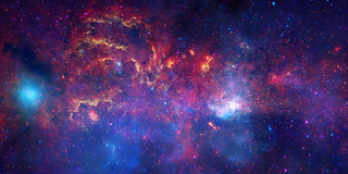 NASA's Great Observatories Examine the Galactic Center Region - The core of the Milky Way at a distance of some 26,000 light years from Earth. | by Smithsonian Institution