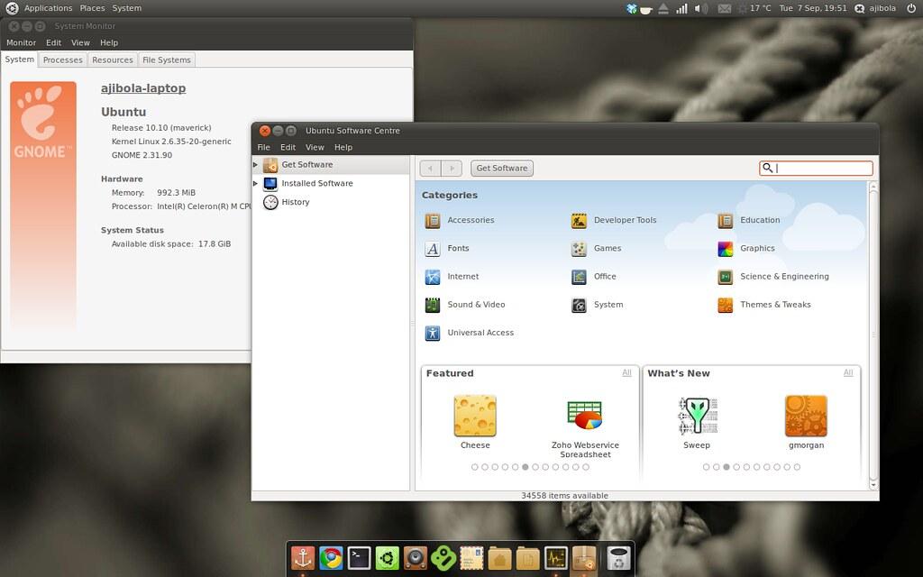Ubuntu Maverick Beta - looking good   Ubuntu 10 10 beta show