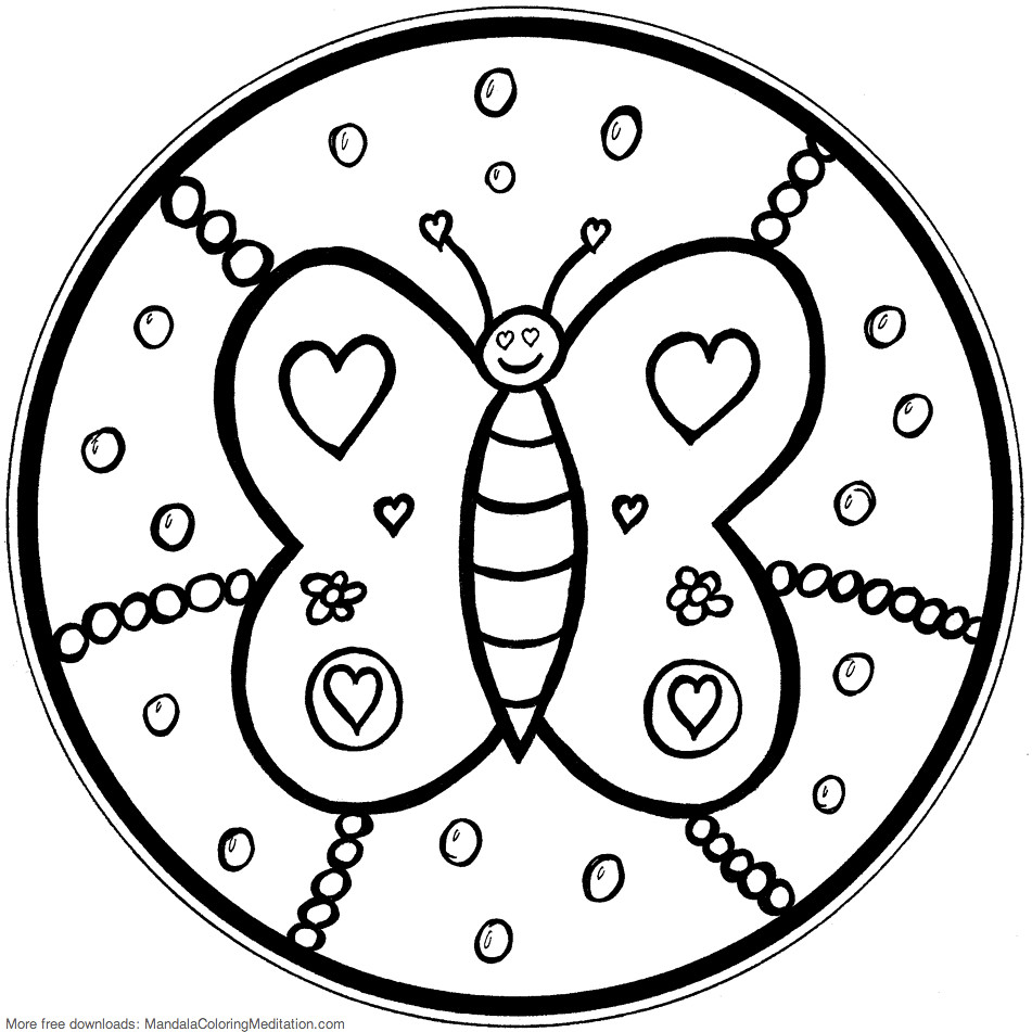Free Printable Butterfly Coloring Pages For Kids | 951x951