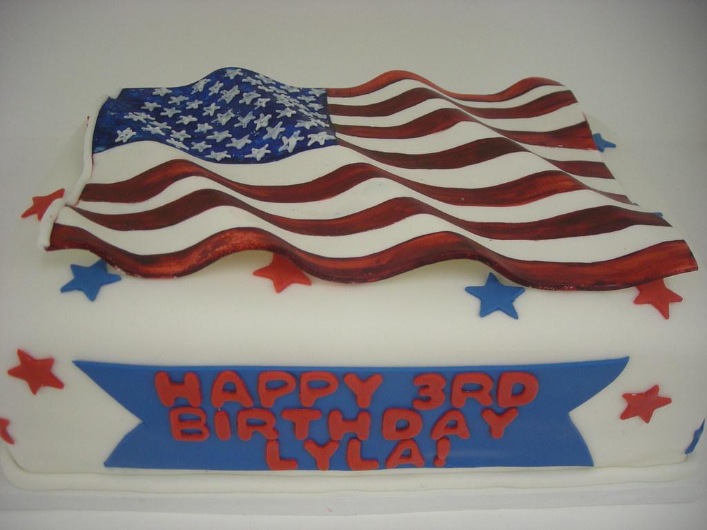 American Flag Birthday Cake (412) | An American themed cake.… | Flickr