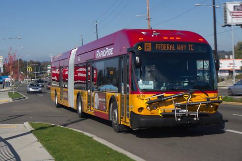 RapidRide A Line to FWTC Test Coach