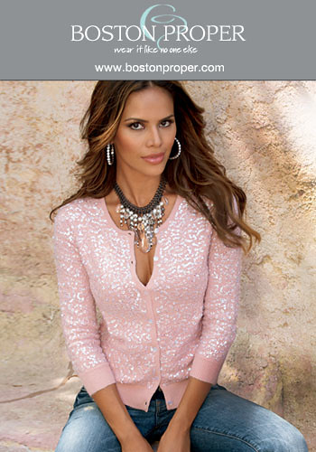 bf8f9c03 Boston Proper: Sparkle Me Pink Cardigan | Pearlescent shimme… | Flickr