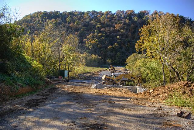 Construction on Overton rd bridge, Jackson Co, TN