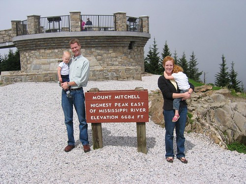 Wright family on Mount Mitchell